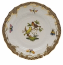 Herend Rothschild Bird Chocolate Brown Border Bread & Butter Plate - Motif 06 6