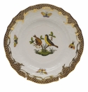 Herend Rothschild Bird Chocolate Brown Border Bread & Butter Plate - Motif 07 6