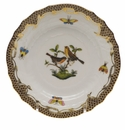 Herend Rothschild Bird Chocolate Brown Border Bread & Butter Plate - Motif 09 6