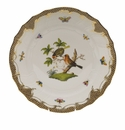 "Herend Rothschild Bird Chocolate Brown Border Dinner Plate - Motif 10 10.5""D"