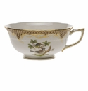 Herend Rothschild Bird Chocolate Brown Border Tea Cup - Motif 01 (8 Oz)