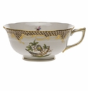 Herend Rothschild Bird Chocolate Brown Border Tea Cup - Motif 02 (8 Oz)