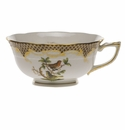 Herend Rothschild Bird Chocolate Brown Border Tea Cup - Motif 03 (8 Oz)