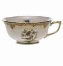 Herend Rothschild Bird Chocolate Brown Border Tea Cup - Motif 04 (8 Oz)