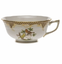 Herend Rothschild Bird Chocolate Brown Border Tea Cup - Motif 05 (8 Oz)