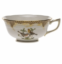 Herend Rothschild Bird Chocolate Brown Border Tea Cup - Motif 09 (8 Oz)