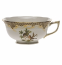 Herend Rothschild Bird Chocolate Brown Border Tea Cup - Motif 10 (8 Oz)