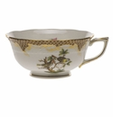 Herend Rothschild Bird Chocolate Brown Border Tea Cup - Motif 11 (8 Oz)