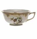 Herend Rothschild Bird Chocolate Brown Border Tea Cup - Motif 12 (8 Oz)