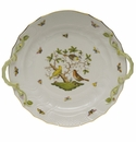 "Herend Rothschild Bird Chop Plate With Handles  14""D"