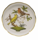 "Herend Rothschild Bird Coaster - Motif 06 4""D"