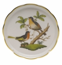 "Herend Rothschild Bird Coaster - Motif 08 4""D"