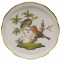 "Herend Rothschild Bird Coaster - Motif 10 4""D"
