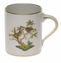 "Herend Rothschild Bird Coffee Mug (16 Oz) 4""H"