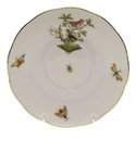 "Herend Rothschild Bird Covered Bouillon Saucer  6.5""D"