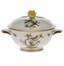 Herend Rothschild Bird Covered Cup With Rose Lid - Kit (8 Oz