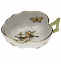 "Herend Rothschild Bird Deep Leaf Dish  1.5""H"