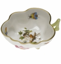 "Herend Rothschild Bird Deep Leaf Dish  4""L X 3""W"