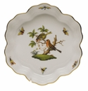 "Herend Rothschild Bird Fruit Bowl 6.25""D"