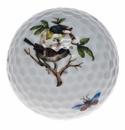"Herend Rothschild Bird Golf Ball 1.75""D"