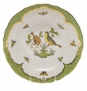 Herend Rothschild Bird Green Border Dessert Plate - Motif 07 8.25""