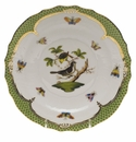 Herend Rothschild Bird Green Border Salad Plate - Motif 01 7.5""