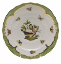 Herend Rothschild Bird Green Border Salad Plate - Motif 02 7.5""