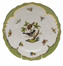Herend Rothschild Bird Green Border Salad Plate - Motif 04 7.5""
