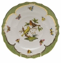 Herend Rothschild Bird Green Border Salad Plate - Motif 06 7.5""