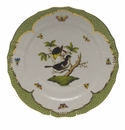 "Herend Rothschild Bird Green Border Service Plate - Motif 01 11""D"