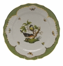 "Herend Rothschild Bird Green Border Service Plate - Motif 02 11""D"