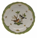 "Herend Rothschild Bird Green Border Service Plate - Motif 05 11""D"
