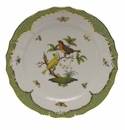 "Herend Rothschild Bird Green Border Service Plate - Motif 06 11""D"