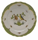 "Herend Rothschild Bird Green Border Service Plate - Motif 07 11""D"