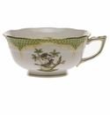 Herend Rothschild Bird Green Border Tea Cup - Motif 01 (8 Oz)