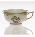 Herend Rothschild Bird Green Border Tea Cup - Motif 02 (8 Oz)