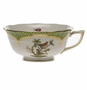 Herend Rothschild Bird Green Border Tea Cup - Motif 03 (8 Oz)