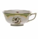 Herend Rothschild Bird Green Border Tea Cup - Motif 04 (8 Oz)
