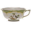 Herend Rothschild Bird Green Border Tea Cup - Motif 05 (8 Oz)