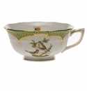 Herend Rothschild Bird Green Border Tea Cup - Motif 08 (8 Oz)