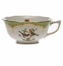 Herend Rothschild Bird Green Border Tea Cup - Motif 09 (8 Oz)
