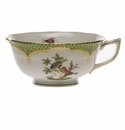 Herend Rothschild Bird Green Border Tea Cup - Motif 10 (8 Oz)