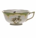Herend Rothschild Bird Green Border Tea Cup - Motif 11 (8 Oz)