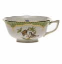 Herend Rothschild Bird Green Border Tea Cup - Motif 12 (8 Oz)
