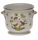 "Herend Rothschild Bird Large Cachepot 8.25""H X 9.5""D"