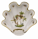 "Herend Rothschild Bird Large Shell Dish 9""L X 8.75""W"