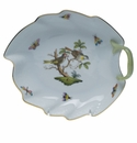 "Herend Rothschild Bird Leaf Dish  7.75""L"