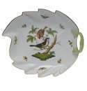 "Herend Rothschild Bird Leaf Dish  9.5""L"