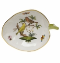"Herend Rothschild Bird Leaf Tray  4.5""L X 3""W"