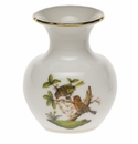 "Herend Rothschild Bird Medium Bud Vase With Lip 2.75""H"
